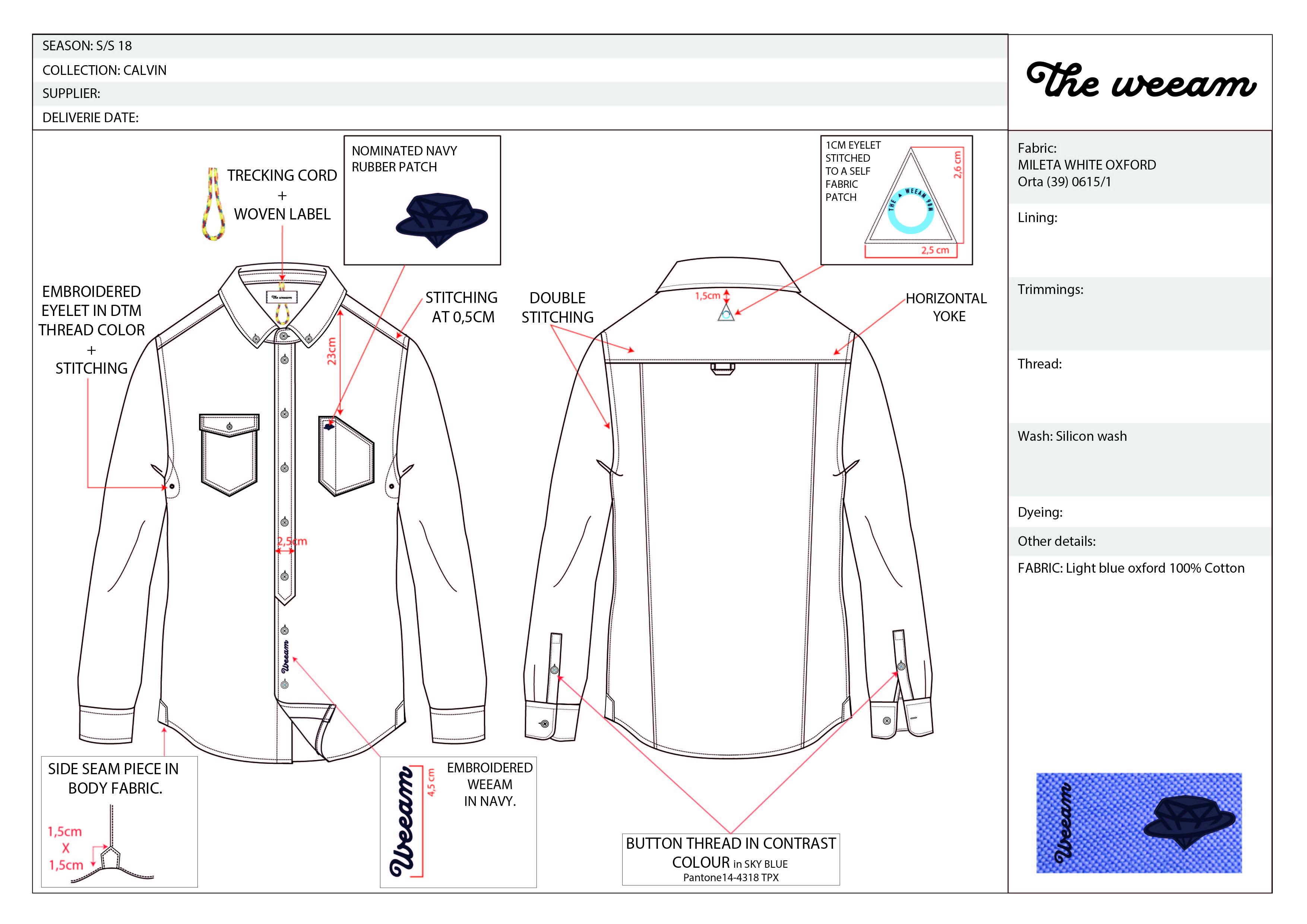 CALVIN blue oxford shirt-01