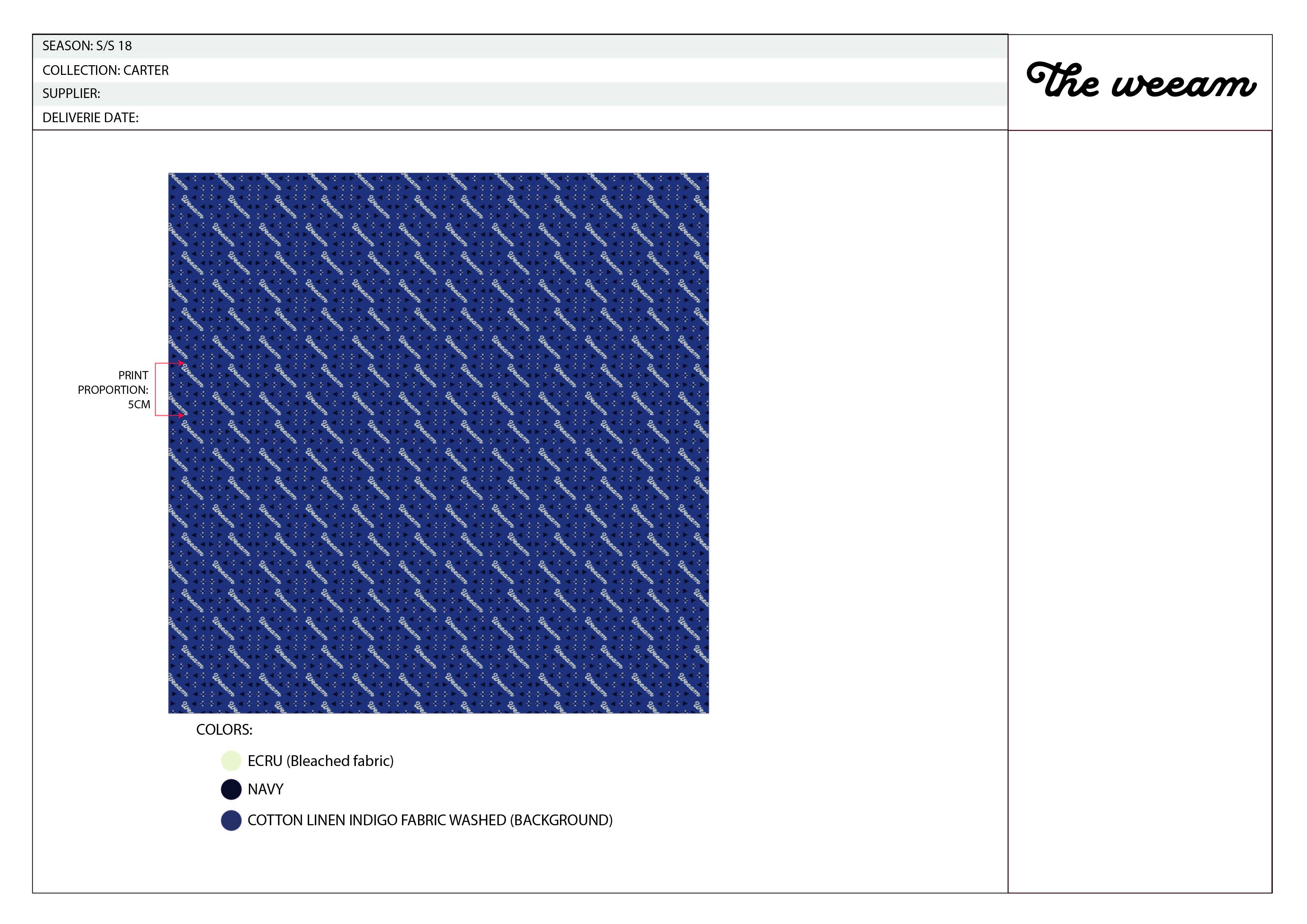 CARTER indigo printed short sleeve-03