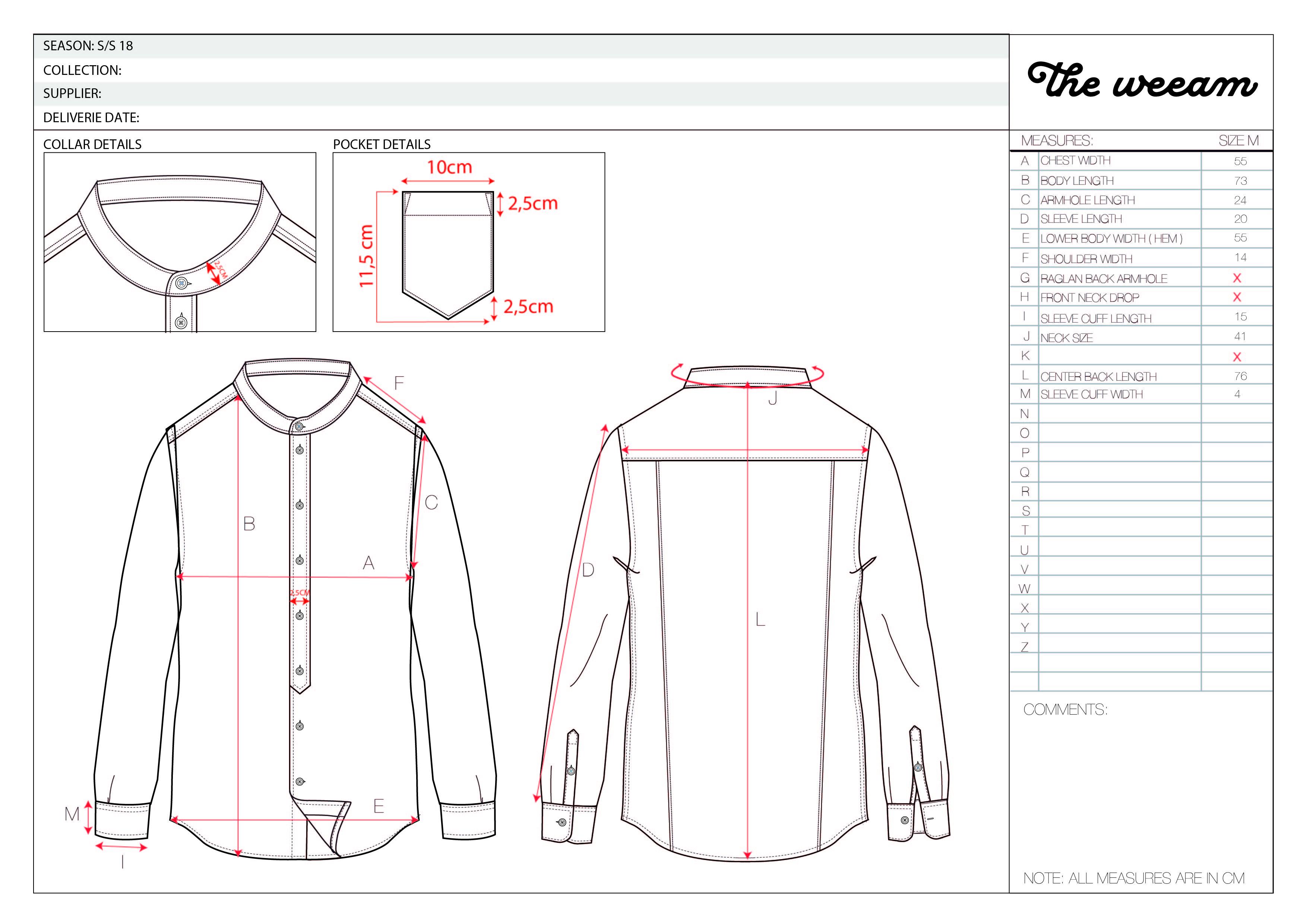 CESAR collar less denim shirt-03
